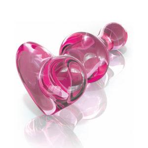Plug (Coeur) en verre - rose