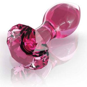 Plug (Diamant) en verre - rose
