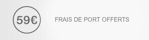 Frais de port offerts dès 59€ d'achats