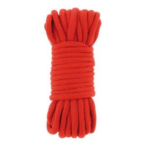LIAISON : Corde Bondage coton 10m - couleur rouge