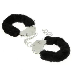 Menottes pour poignets à fourrure - noir